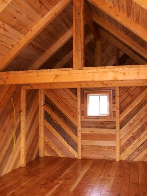 natural interior post and beam cabin greenleaf forestry