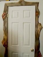 Extra colorful beetle kill door trim made by greenleaf forestry