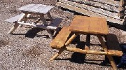 Kids Wooden Picnic Table Hand Made by Greenleaf Craftsmen
