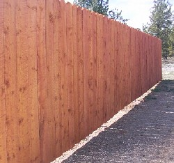 board privacy fence 1x6 six feet tall built by greenleaf forestry craftsmen