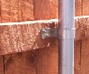 board privacy fence hardware